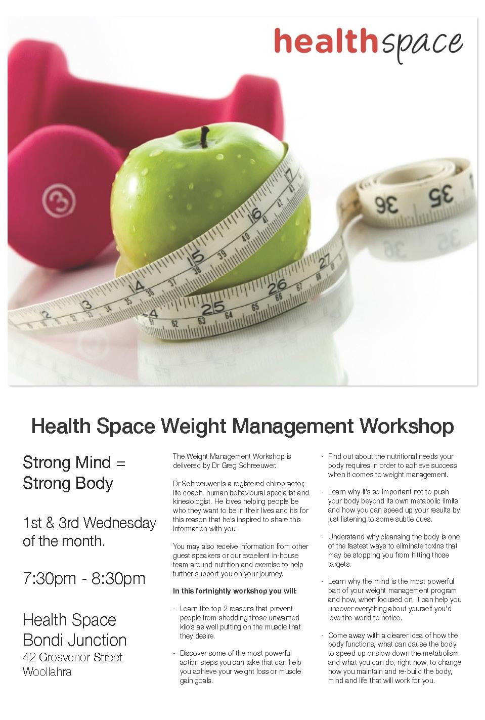 Weight Management Workshop Flyer